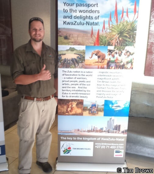 Tim Brown Tours Holiday Expo 2017 Montecasino our banner