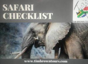 Safari Checklist