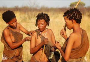 learn how to live a healthy life - san women gatherers