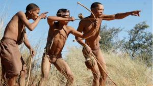 traditional san hunters